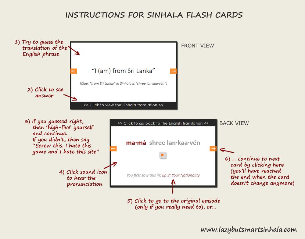 Sinhala Flash Cards - Lazy But Smart Sinhala Blog