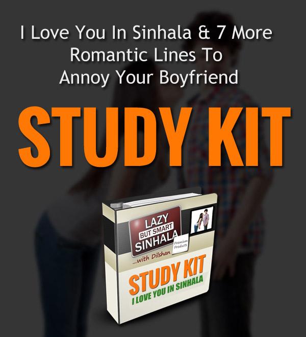 I Love You In Sinhala Study Kit Promo