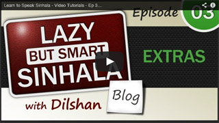 Sinhala Video Tutorial - Ep-03 Extras