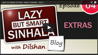 Sinhala Video Tutorial - Ep-04 Extras