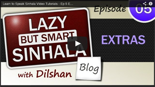 Sinhala Video Tutorial - Ep-05 Extras