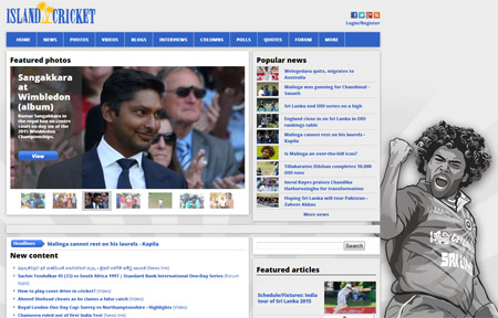 Island Cricket - Where I get all my Sri Lankan cricket news updates