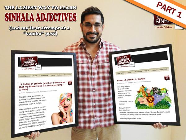 Sinhala Adjectives - lazy but smart sinhala-2